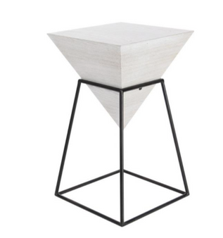 White Wood Accent Table