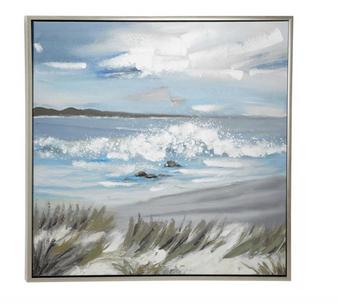 Beach Coastal Framed Canvas