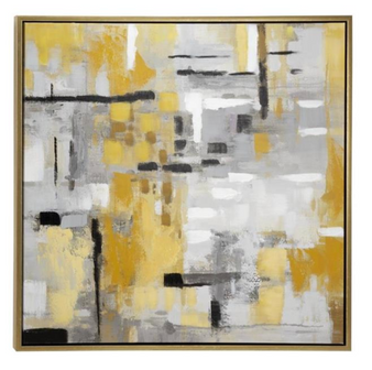 Abstract Painting Framed Canvas