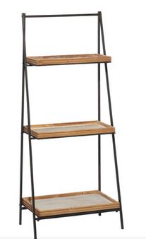3 Tier Metal & Wood Shelf
