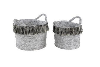 Grey Aluminium Baskets (Set of 2)