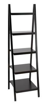 Solid Black Wood Shelf