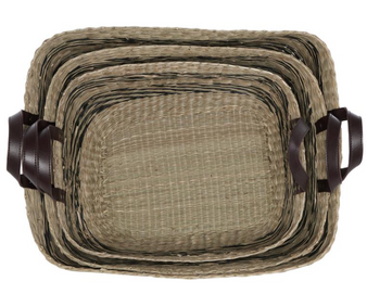 Seagrass Storage Baskets With Handles