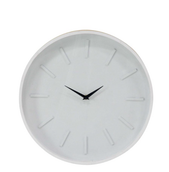 White & Wood Wall Clock