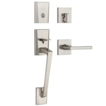 Camino Handleset Lock in Satin Nickel
