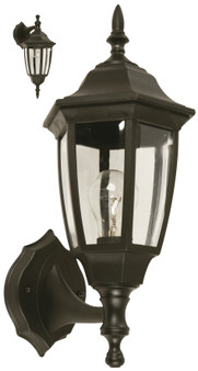 04688 1 Light Outdoor Wall Sconce in Black