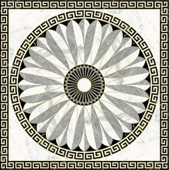"66PHP14-1802 24"" Medallion Porcelain Tile"
