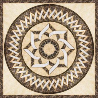 "66PHP14-991 24"" Medallion Porcelain Tile"