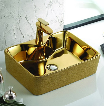 Countertop Art Vessel in Gold