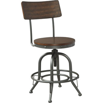 Odium Counter Height Bar Stool in Brown