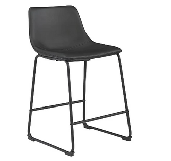 Centiar Counter Height Bar Stool in Black