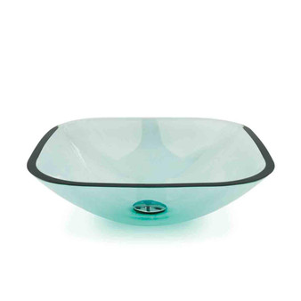 Diamante Transparent Glass Vessel Basin