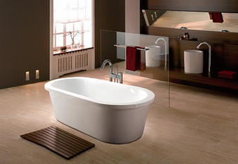 Q103A Freestanding Oval Bathtub In White