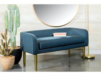 """905688 50"""" Upholstered Bench in Dark Grey"""