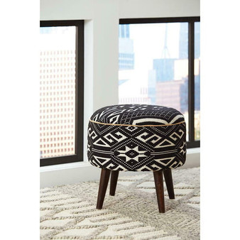 918492 Accent Stool in Black and White
