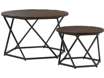 931154 Nesting Table Set in Dark Brown