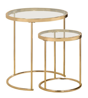 935936 Nesting Table Set in Gold