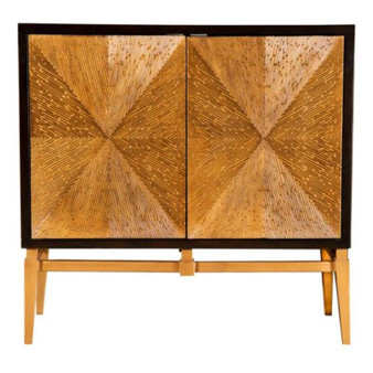 953496 Accent Cabinet in Brown and Gold