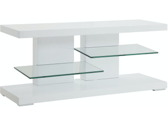 700824 TV Console in Glossy White