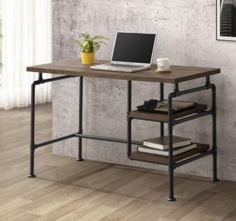 0B060FC Desk in Rustic Oak
