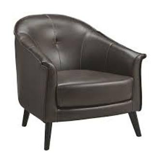 Brickham Accent Chair in Dark Brown