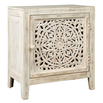 Fossil Ridge Accent Cabinet in White