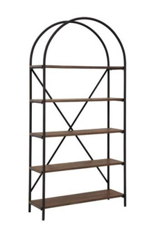 Galtbury Bookcase in Black and Brown