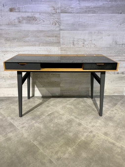 "51"" Home Office Desk in Oak And Black"