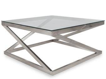 Coylin Coffee Table in Brushed Nickel