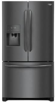 """36"""" French Door Refrigerator in Black Stainless"""