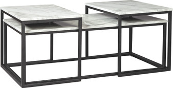 Donnesta Table Set in Gray and Black