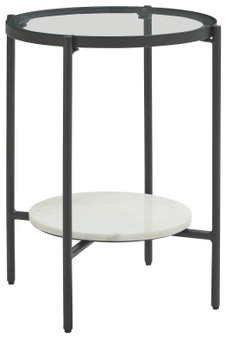 Zalany End Table in Black and White