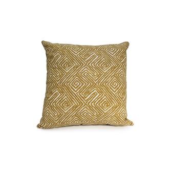 "Aztec 18"" Throw Cushion in Mustard"