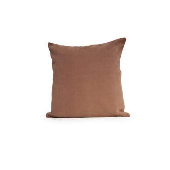 """Plush 18"""" Throw Cushion in Brown"""