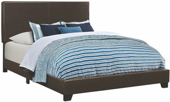 Dorian King Upholstered Bedframe in Brown