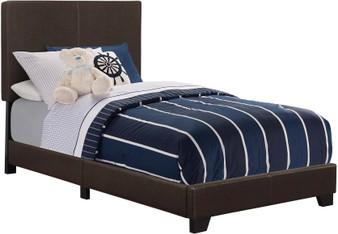 Dorian Twin Upholstered Bedframe in Black