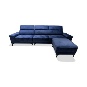 Monaco 3 Piece Sofa Set in Navy Blue
