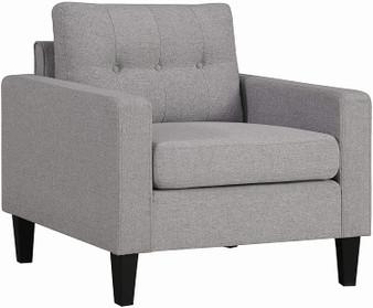 Metro Upholstered Chair in Light Grey