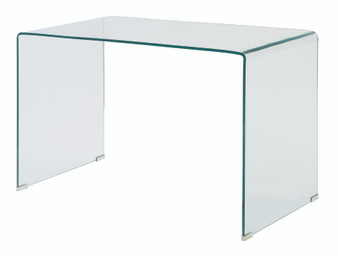 Clear Writing Desk in Glass