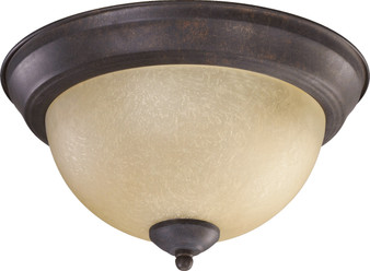 Forth Worth 2 Light Flush Mount in Toasted Sienna