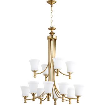 Rossington 12 Light Chandelier in Aged Brass