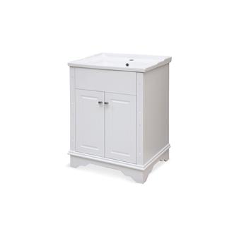 """24"""" Bathroom Vanity in White"""