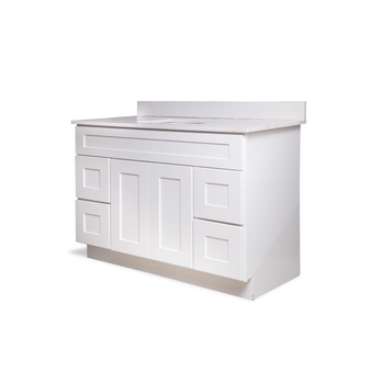 "48"" Bathroom Cabinet Set in White"