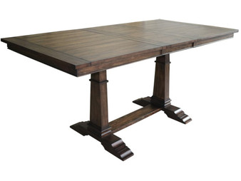 Delphine Counter Height Dining Table in Dark Pine