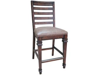 Delphine Counter Height Chair in Dark Pine