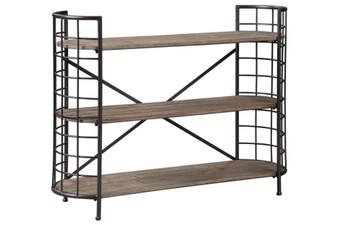 Flintley Bookcase in Brown and Gunmetal