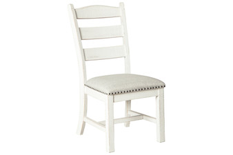 Valebeck Dining Chair in Beige and White