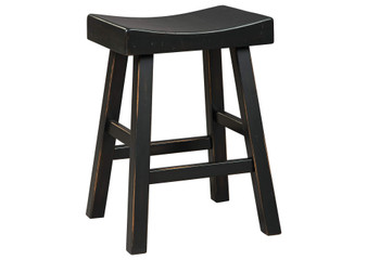 Glosco Counter Height Stool in Black