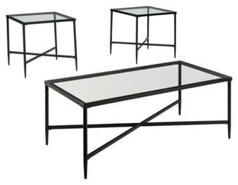 Augeron Occasional Table Set in Black