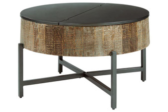 Nashbryn Coffee Table in Gray and Brown